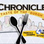 LIVE RIGHT NOW>>> Chronicle: Taste of the Burgh. Watch it on WTAE Channel 4 or go to: http://t.co/QMNvTAutDf http://t.co/HGz4lvaM6N