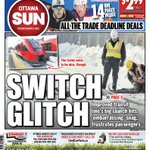 What an embarrassment! The Citys Switch Glitch Sun Page 1 for Tuesday #ottnews http://t.co/2uSYYfL7EN