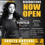 RT @ShreyaGhoshalFC: Upcoming Concert - @shreyaghoshal live in Sri Lanka, March 28th http://t.co/QDidhoe1fs http://t.co/8akJWkpGaQ