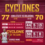 One of the best comebacks in Iowa State history at Hilton Coliseum Monday night as ISU takes down OU 77-70! #Cyclones http://t.co/iZfVkdXgdy