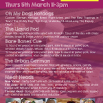 @MumsnetCroydon If its a Thursday, pop down to @Platform_RS for great #StreetFood 11-3pm :-) http://t.co/p8blXzNUmO