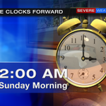 SPRING FORWARD SUNDAY!!  Turn clocks forward Saturday night.  Sunset on Sunday is about 7:20 p.m. http://t.co/erpkoWEJsf