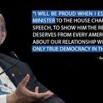 Im honored & humbled by the strong support of @SenatorMenendez for my speech to Congress today. #NetanyahuSpeech http://t.co/iZAmDpEgQn