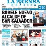 """Que bueno es levantarte temprano y leer en la portada de un periódico """"@nayibbukele nuevo alcalde de San Salvador"""" :D http://t.co/lA3fCxIy1n"""
