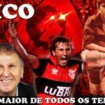 """Hoje é Natal para a Torcida do Flamengo. Feliz aniversário @ziconarede. """"É o meu maior prazer, vê-lo brilhar"""" http://t.co/9NLNq8pymn"""