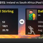 RT @cricketnext: #CWC15: South Africa 411/4. @Irelandcricket need Paul Stirling to fire. LIVE: http://t.co/2f0pGNvCHZ  #SAvsIRE