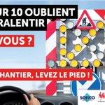 7 Belges/10 avouent oublier de ralentir à l'approche d'un chantier,doù cette nvelle campagne @prevotmaxime #SOFICO http://t.co/FvDwZmBYNt