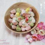 今日のおやつはインコ雛あられと桜餅(長命寺)blog→http://t.co/wW89uFWEUS #インコ #さくら餅 #桜餅 #雛あられ #ひな祭り #雛祭り http://t.co/Tm2PHm8fgR
