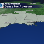 All the areas shaded in gray are under a Dense Fog Advisory this morning! http://t.co/kJejnE9Nu6