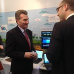 .@GOettingerEU visiting #MWC15 #EC #5G stand @metis2020 @FP7_5GNOW #Crew #Miweba #iJoin @DigitalAgendaEU @NetTechEU http://t.co/1AOdIys2VB