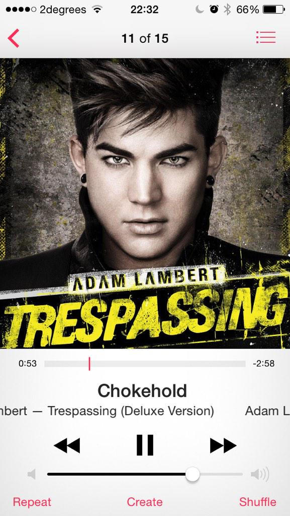 Adam Lambert's Trespassing album was bloody good, wasn't it? Been revisiting it today ahead of the next one http://t.co/bkyMVyNJbK