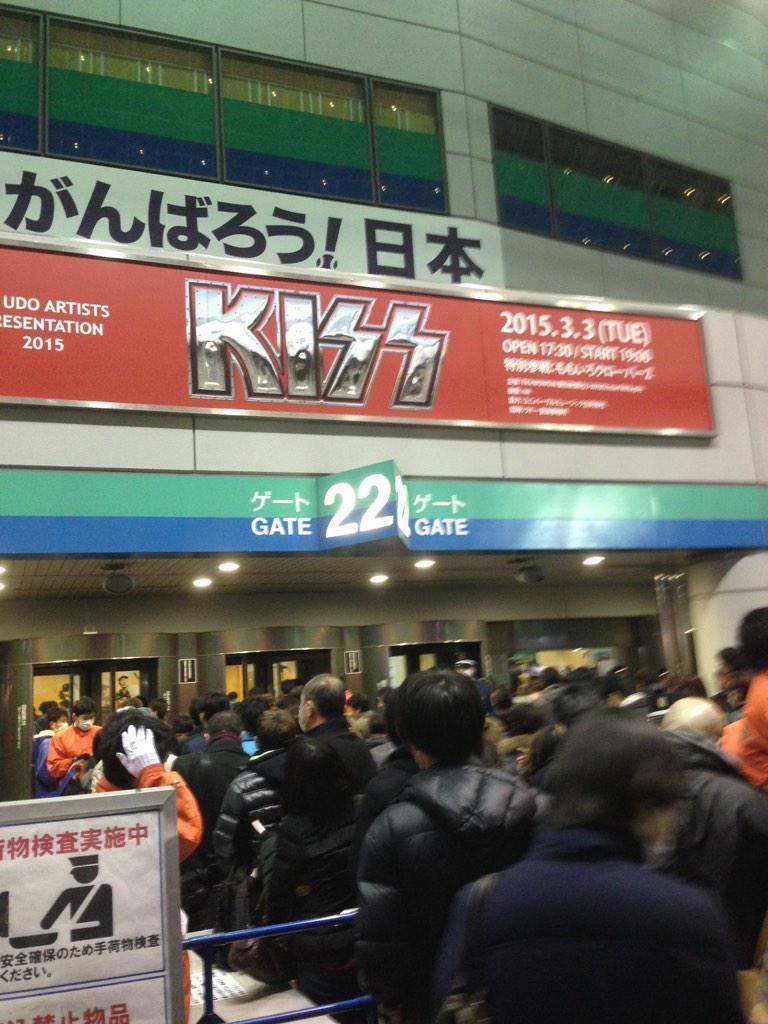 今年21本目のライブは東京ドームでKISS! UDO MUSIC FES.以来だな観るの! http://t.co/VVe8D4vKfX