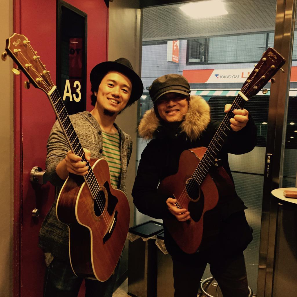 宮田和弥兄さんとのリハ終了!  みっちりみっちり、二曲オリジナルを仕込ませて頂きました。めちゃ良い曲が出来てしまいましたよ。 3/7名古屋、3/8大阪、3/15東京にて披露します。お楽しみに! http://t.co/hxccxKV0Dr