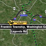 Tractor trailer carrying brine crashes in Washington Co - Lagonda Rd in South Franklin Twp @WTAE http://t.co/vRuDaaru4G