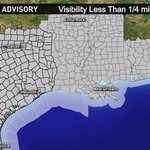 Dense fog advisory until 10am ... Not only Texas but the entire gulf coast! Mild, muggy and gloomy today #KHOU http://t.co/N1jP0vopSn