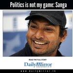 Politics is not my game: Sanga #SriLanka http://t.co/3tzAyLzTfd http://t.co/m99vzSAfG0