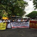 Protest against port city blocks road in fort http://t.co/ks1G87ftVj