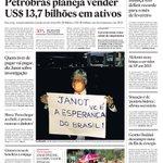 Capa de hoje: Petrobrás planeja vender US$13,7 bilhões em ativos http://t.co/qcjNHLdphM http://t.co/b9bUdZwNt5