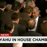 Israeli Prime Minister enters US House chamber. Live blog: http://t.co/8jTZ4SGSfK #NetanyahuSpeech http://t.co/DY72a41reL