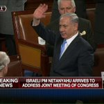 WATCH LIVE: @netanyahu arrives to standing ovation at Capitol Hill. Tune in to #FoxBusiness now. #NetanyahuSpeech http://t.co/hkMeKA7uE5