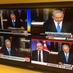 Israeli channels talking over top of Netanyahu speech - will have 5 minute delay so editors can cut electioneering http://t.co/SVD9Dks5vD
