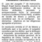 .@semartinez22: Juez anuncia posible modificación de delito a ex mandatario Francisco Flores. http://t.co/UnHDWvsqI6