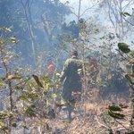 """@BomberosES y @FUERZARMADASV trabajan en incendio en volcán Chichontepec. http://t.co/W2JIVb8MPt"