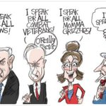 So far Bibi is speaking fluent Republican. He speaks Fear and Hate without a discernible accent. #Netanyahu http://t.co/y085G64x2B
