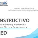 """Instructivo oficial del TSE para """"miembros y miembras"""" de JED. http://t.co/CcncEmWNUS"""