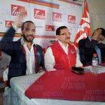 Comisión política del FMLN y candidatos ganadores brindan conferencia de prensa. @noticias4vision está ahí. http://t.co/LUfPz5A7qK