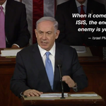 """Netanyahu on Iran and ISIS: """"The enemy of your enemy is your enemy."""" #BibiSpeech http://t.co/qsJl2eIKcd http://t.co/IlNRN786j3"""