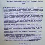 #CasoFlores Juez anuncia posible modificación del delito a ex mandatario Francisco Flores http://t.co/G3uB1kfoVI