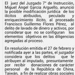 Juez Séptimo de Instrucción anuncia posible modificación delito a Fco Flores. Nuevo delito sería, lavado de dinero http://t.co/Q6fzNqGdHa