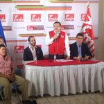 Inicia conferencia del @FMLNoficial para dar resultados sobre comicios para alcaldes http://t.co/lKOhuH2HxB