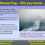 Something you might not think about much: economic impacts of dense fog. #houwx #txwx http://t.co/XTxXLhwKJI