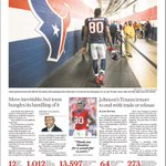 Check out the cover of todays @HoustonChron sports section. Our new uniforms made the cover! http://t.co/bt7rvvRqBW