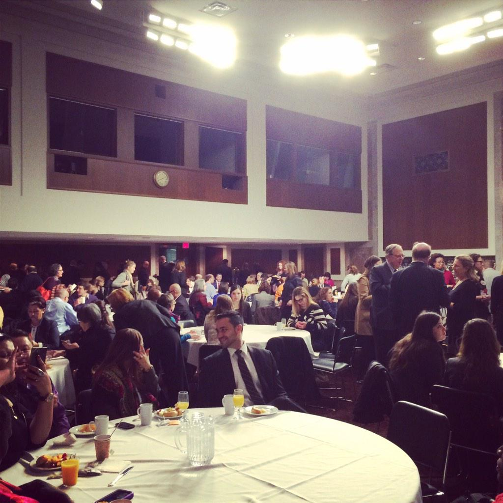 Anti-hunger advocates from across US fueling up for Lobby Day on Capitol Hill! #No1ShouldGoHungry @FeedingAmerica http://t.co/8p14MdRDI6