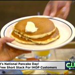 Its National Pancake Day! Head to @IHOP for a free short stack of pancakes! | http://t.co/IQzUvsr613 http://t.co/6ExUcXIeS2