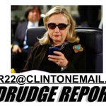 Drudge doxes Hillary, via @jonknee http://t.co/UnR2yJm2HS