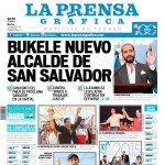 """PORTADA LPG 03/03/15 """"BUKELE NUEVO ALCALDE DE SAN SALVADOR"""" Titular obvio y necesario, bien. http://t.co/duEllNODtp"""