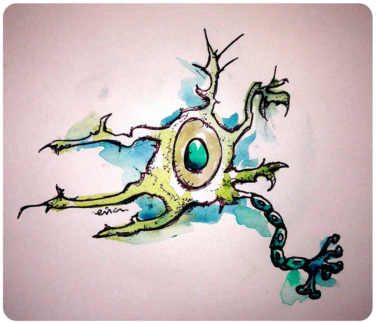 """#SciArt (science art) turns information into knowledge. """"Neuron"""" http://t.co/7bp6dopVpG http://t.co/NtPgTBOcDR"""