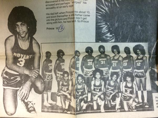 So this is a picture of Prince in his junior high basketball uniform, found by @StribJany because of course. http://t.co/iPinUuHiTa