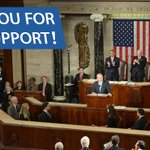 I am truly humbled by the overwhelming support today during my speech to Congress. Thank you. #NetanyahuSpeech http://t.co/ruf777ePog