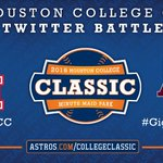 Announcing the finalists in the Houston #CollegeClassic Twitter Battle: @UHCougarBB and @Aggie_Baseball! http://t.co/tgSiDQlf7Z