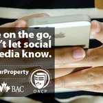 If youre on the go, dont let social media know! Youre telling criminals your home is vacant. #ProtectYourProperty http://t.co/k83RWBicep