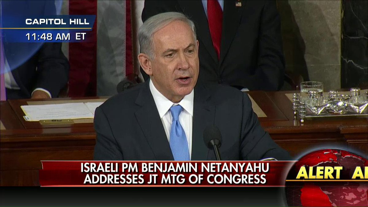 .@Netanyahu closing: 'I know that Israel does not stand alone...America stands with Israel...you stand with Israel.'