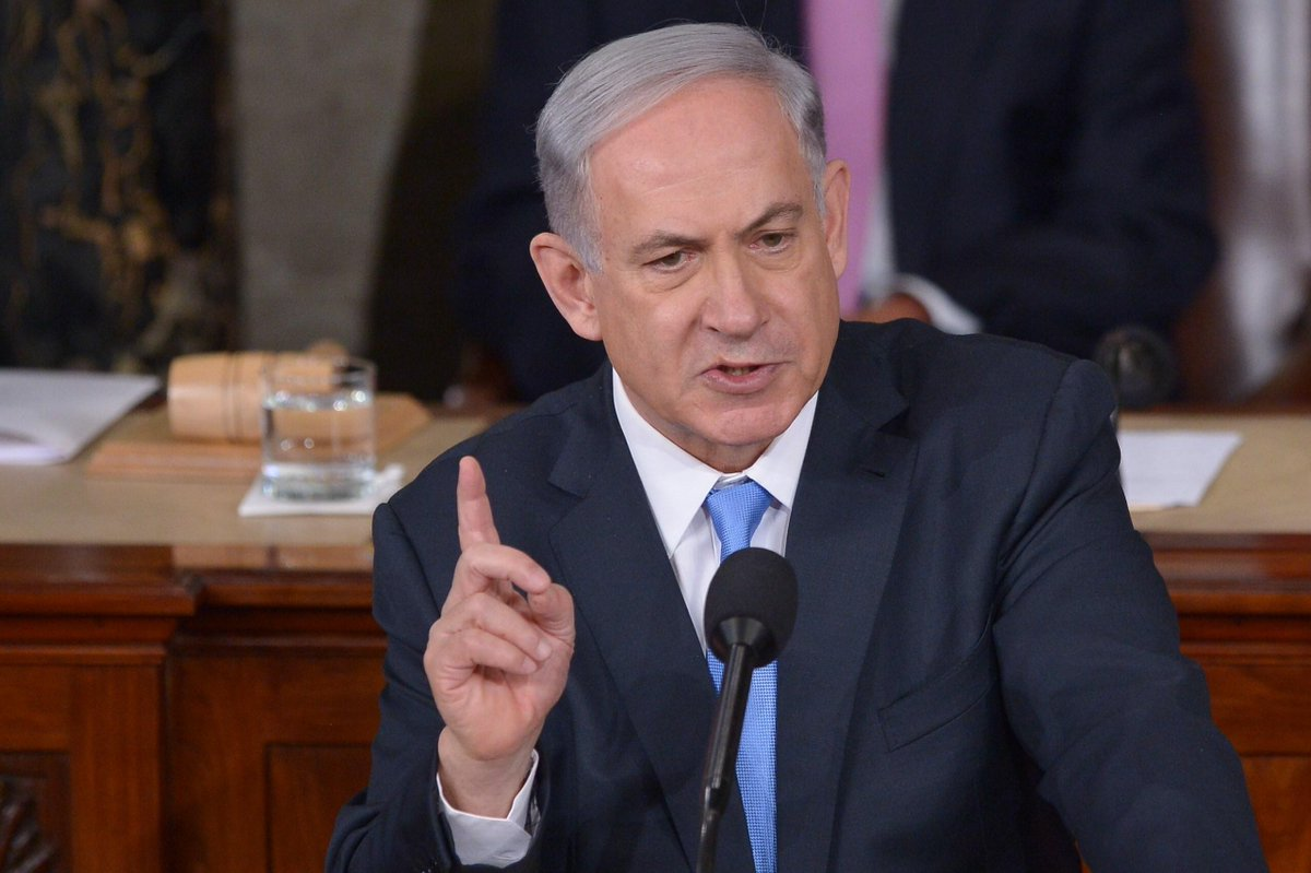 #NetanyahuSpeech: No mention of how #Israel builds Jewish-only settlements by forcing Palestinians out of their homes