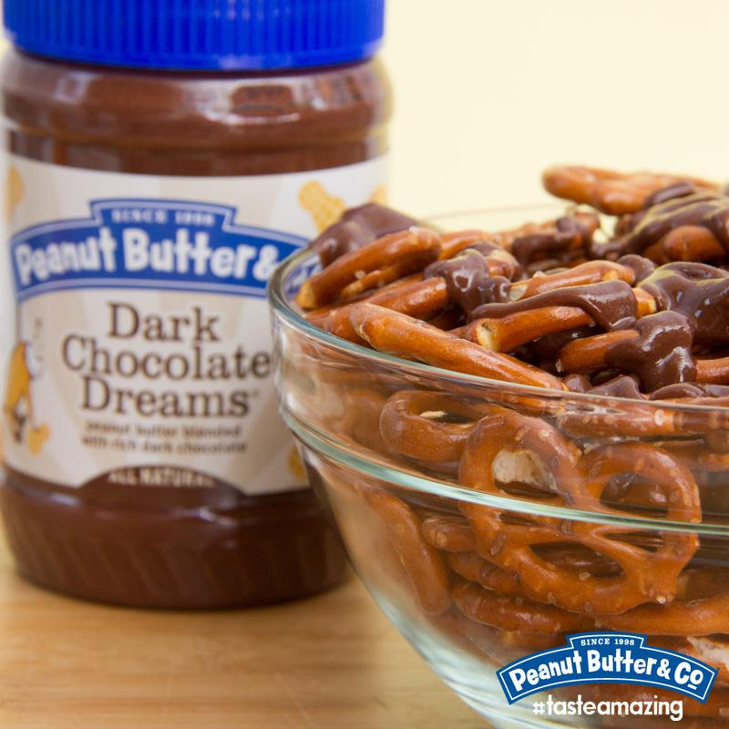 Drizzle some melty Dark Chocolate Dreams over pretzels for a tasty snack! RT for a chance to win PB! #FreeJarFridays http://t.co/93KWIFH3vQ