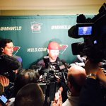 Huge #mnwild media scrum for hometown guy Jordan Leopold (who is NOT on Twitter); lots of questions about #TheLetter http://t.co/WIx6UvSMkO