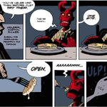 Happy #NationalPancakeDay! Remember @artofmmignola #Hellboys first experience w/ pancakes? http://t.co/ecKFjodfpG http://t.co/DNP2OZDMBr